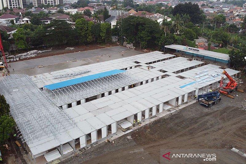 Alih fungsi lapangan bola Simprug menjadi rumah sakit Covid-19 selesai