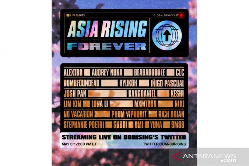 88rising akan gelar konser virtual