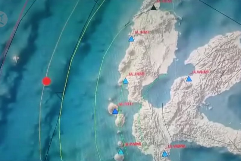 Gempa Magnitudo 5,8 guncang Malut, tidak berpotensi tsunami