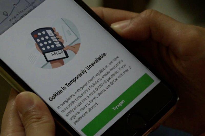 Layanan ojek daring hilang dari aplikasi