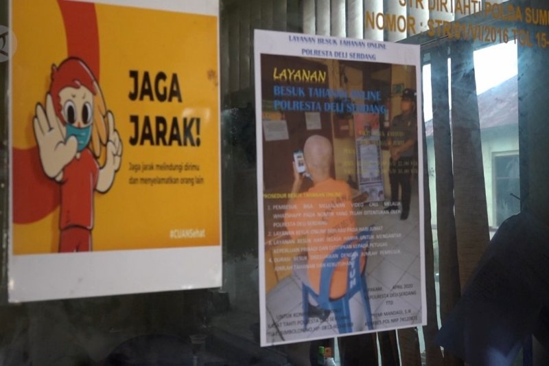 Penuhi hak tahanan, Polresta Deli Serdang berlakukan jenguk daring