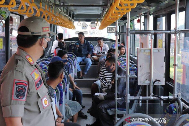 40 warga Palembang terjaring razia disiplin masker