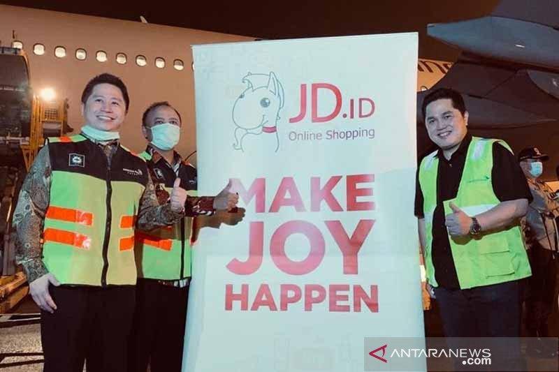 Erick Thohir terima paket alat kesehatan dari JD.com China