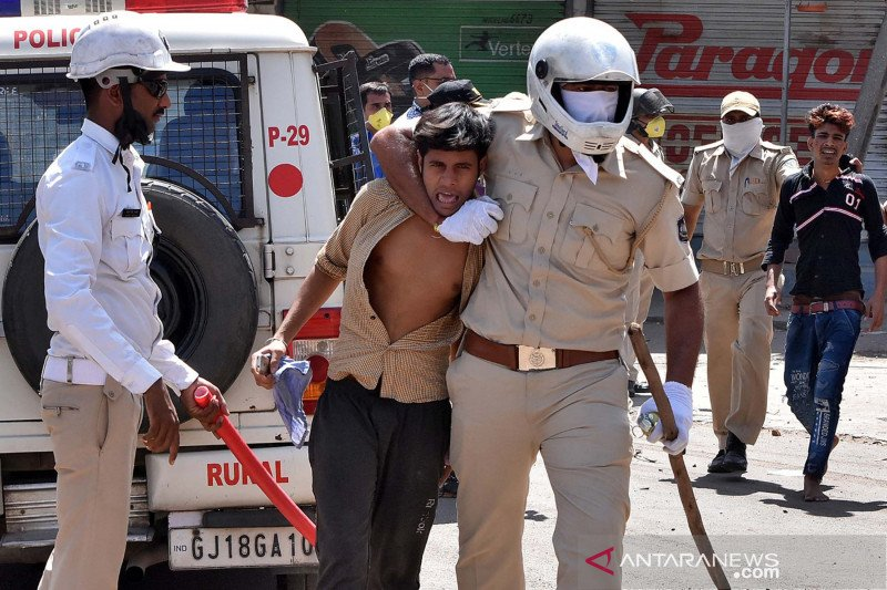 Buruh migran tuntut dipulangkan ke negaranya saat lockdown India