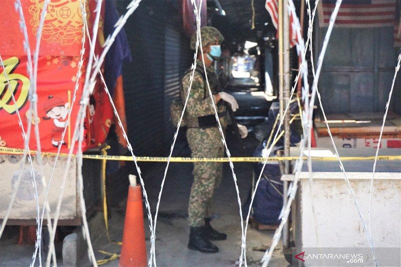 Pasar Chow Kit Kuala Lumpur dijaga tentara