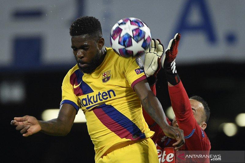 Umtiti cedera betis saat jalani sesi latihan bersama tim Barcelona