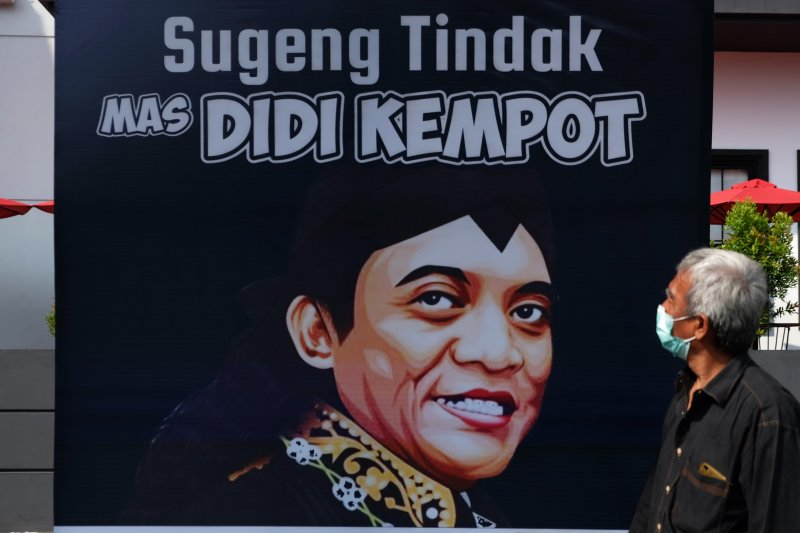 Karyawan HK isi waktu luang dengan menggambar wajah Didi Kempot