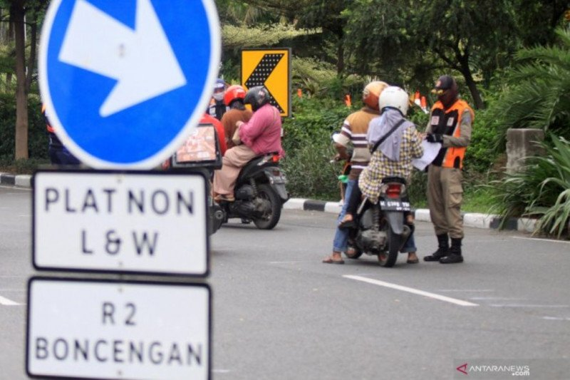 Polda Jatim catat 15.699 pelanggar selama PSBB