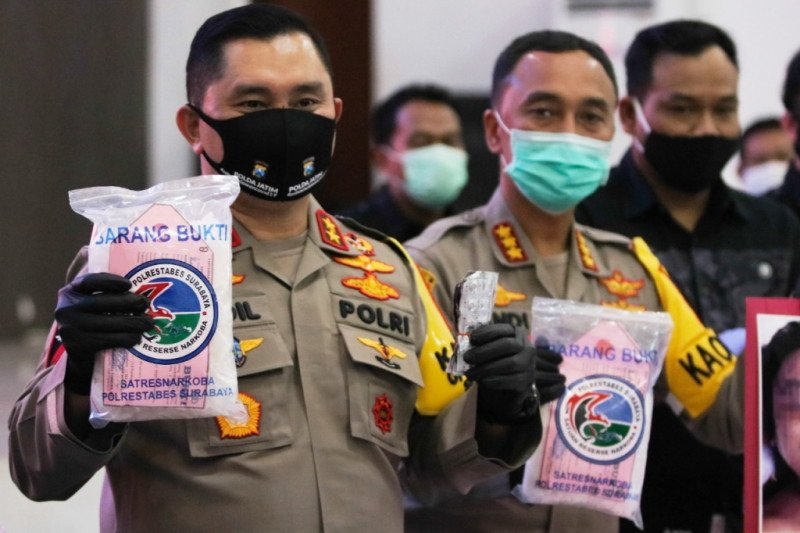 Polrestabes Surabaya ungkap peredaran 100 kilogram sabu-sabu