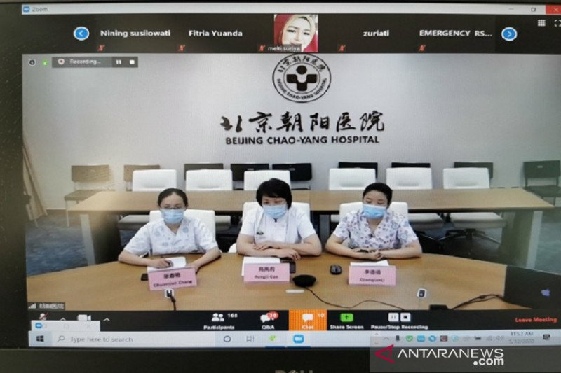 China berbagi pengalaman dengan Indonesia soal perawatan pasien COVID