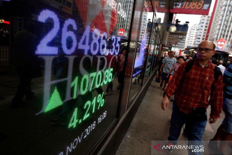 """Saham Hong Kong """"rebound"""", Indeks Hang Seng terangkat 0,56 persen"""