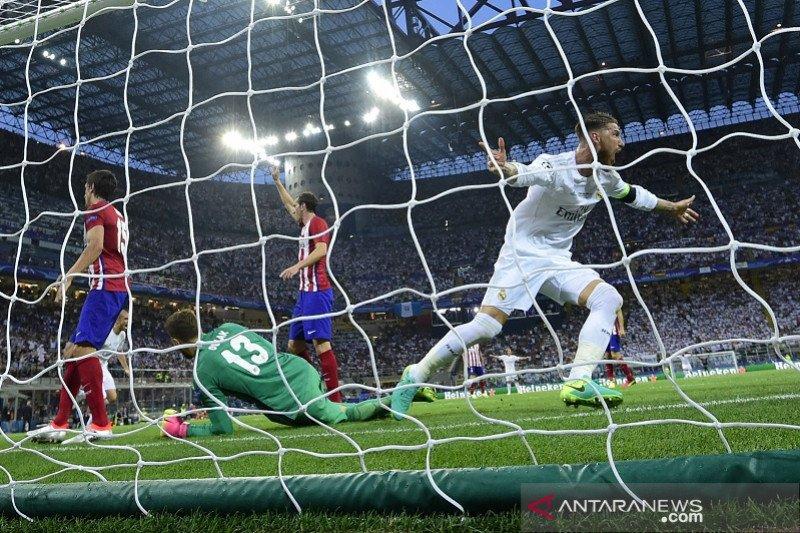 Wasit final Piala Champions 2015/16 akui gol Sergio Ramos seharusnya offside