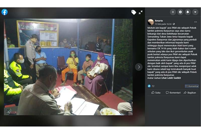 Polisi Banyumas temukan seorang bocah asal Tuban