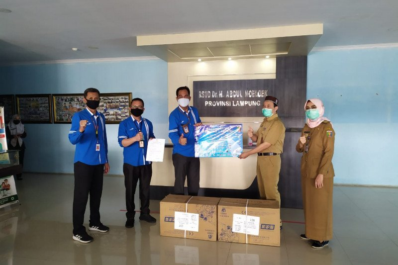 Penyaluran bantuan dari Satgas BUMN di Provinsi Lampung untuk rumah sakit