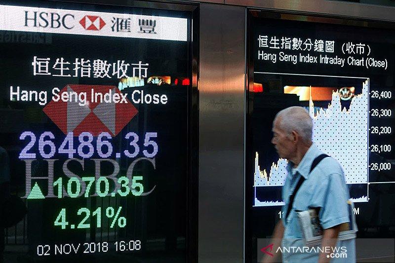 Saham Hong Kong ditutup turun dengan indeks HSI tergerus 0,31 persen