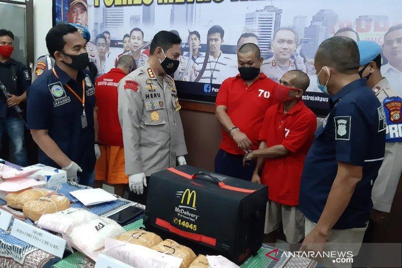 Polisi sita 8,5 kilogram sabu dari 5 pengedar jaringan internasional