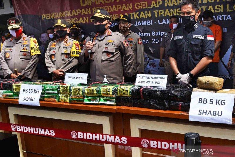 Polisi ungkap penyelundupan 71 kilogram sabu