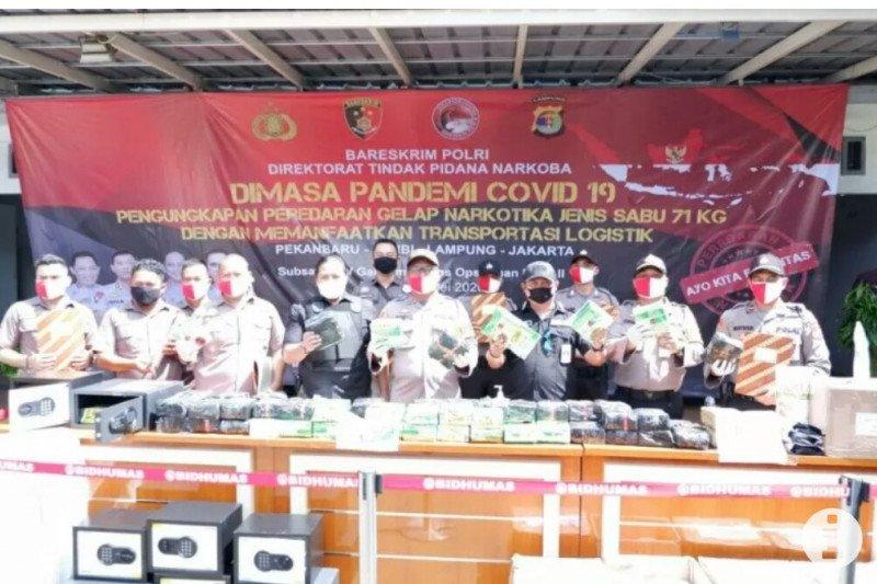 Polres Lampung Selatan sita 66 kg sabu-sabu, kembangkan kasusnya