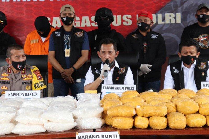 Polisi gerebek gudang ruko simpan sabu-sabu 821 kg di Serang