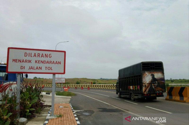 Ratusan kendaraan putar balik, gagal masuk tol Palembang-Kayuagung