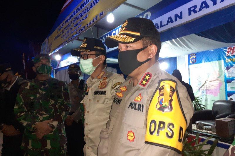 Polda Sumbar tambah personel di perbatasan Sumbar-Riau