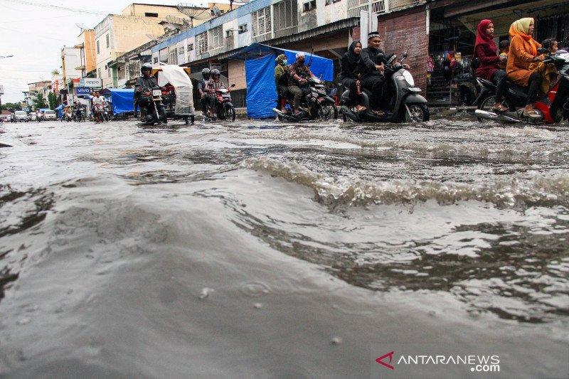 Banjir akibat buruknya drainase di Lhokseumawe