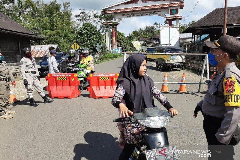 Perbatasan Kabupaten Lebong ditutup 24-27 Mei
