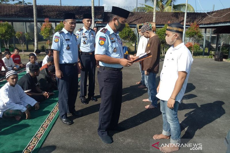 82 napi di Lapas Tanjung Pandan terima remisi khusus Idul Fitri