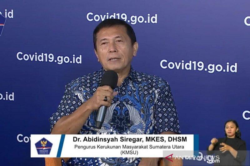 Kerukunan Masyarakat Sumut ajak warga bantu pemerintah atasi COVID-19