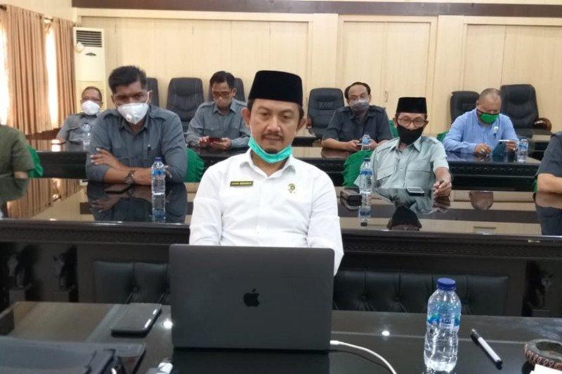 Kepala Kanwil Kemenag Sulsel ikuti Halal Bihalal virtual