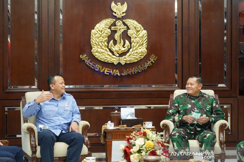 Menteri Edhy bertemu Kasal, perkokoh penjagaan kekayaan laut nasional