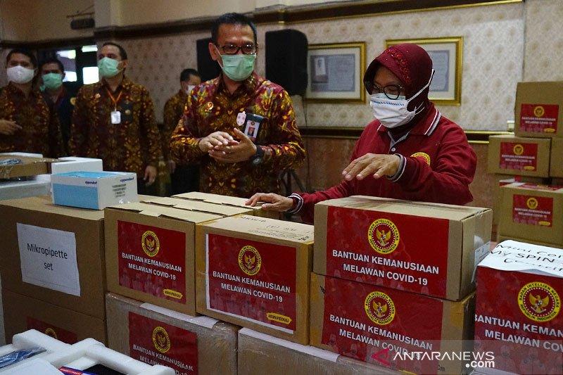 Ribuan APD bantuan dari BIN didistribusikan di Surabaya