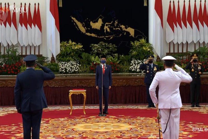 Presiden Jokowi lantik kepala staf AL dan AU