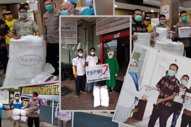 May Day, KSPI bagikan ratusan APD ke sejumlah rumah sakit