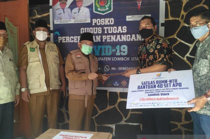 Cegah COVID-19, Satgas BUMN salurkan bantuan APD untuk Lombok Utara
