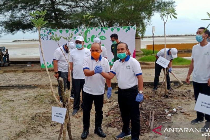 Kota Pangkalpinang dan PLN lakukan  penghijauan Pantai Pasirpadi