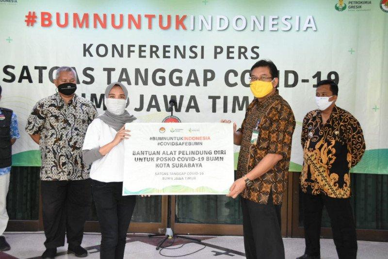 Satgas COVID-19 BUMN Jatim salurkan total bantuan Rp34,88 miliar