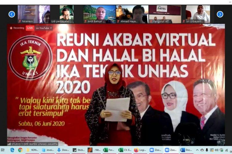 Jusuf Kalla ikuti Reuni Akbar Virtual Ikatek Unhas