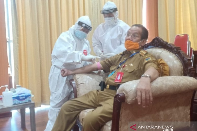 Mantan Danrem positif COVID-19, Gubernur Sulteng langsung rapid test