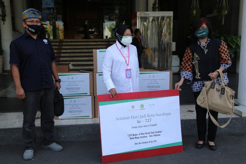 UNICEF-Unair bantu ribuan masker untuk anak-anak di Surabaya