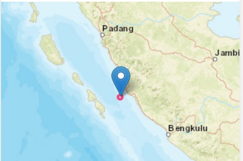 Gempa bermagnitudo 5,0 guncang Mukomuko, Bengkulu