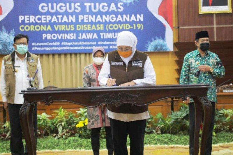 3 kepala daerah di Surabaya Raya komitmen cegah COVID-19