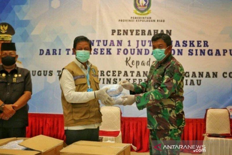 Kepri dapat bantuan 2 juta masker dari Singapura