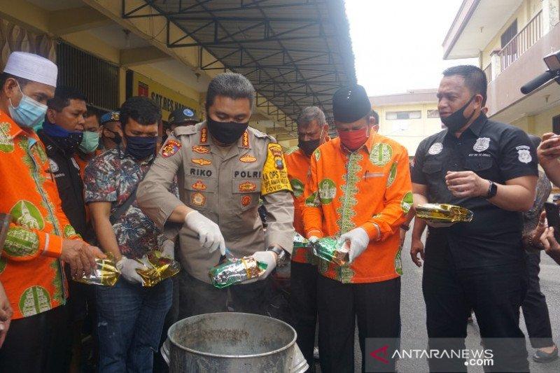 Polisi musnahkan 35 kilogram sabu dari jaringan internasional