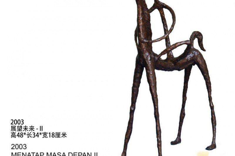 Dua patung karya Syahrizal Koto dipamerkan di Shanghai