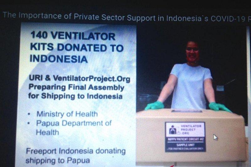Universitas di AS akan kirim 140 ventilator tambahan ke Indonesia