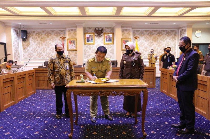 Gubernur Lampung tandatangani kesepakatan akuntabilitas dana COVID-19