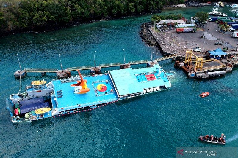 Pertamina-KSOP Padangbai tangani tumpahan minyak KM Dharma Rucitra III