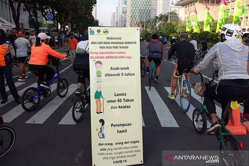 Warga Jakarta antusias ikuti Hari Bebas Kendaraan Bermotor