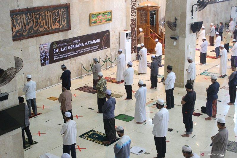 Sejumlah masjid di Kalsel gelar Shalat Gerhana Matahari berjamaah